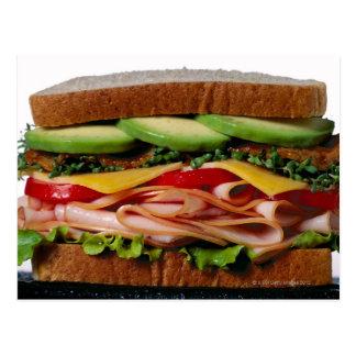 Stacked sandwich postcard