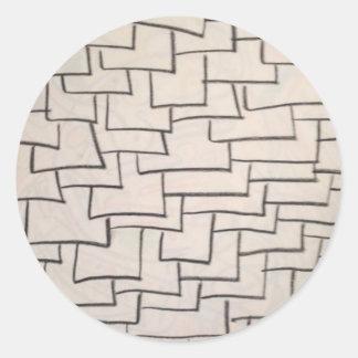 Stacked Tiles Round Sticker
