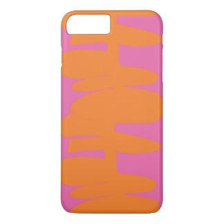 Stacked up orange & pink iPhone case