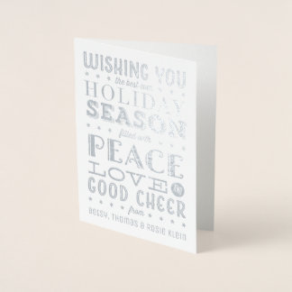 Stacked Vintage Typography Holiday Photo Card