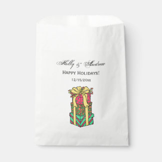 Stacked Wrapped Christmas Presents Xmas Favour Bag