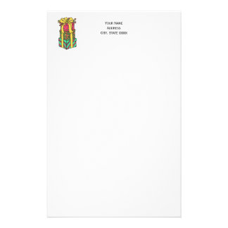 Stacked Wrapped Christmas Presents Xmas Stationery