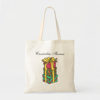 Stacked Wrapped Christmas Presents Xmas Tote Bag