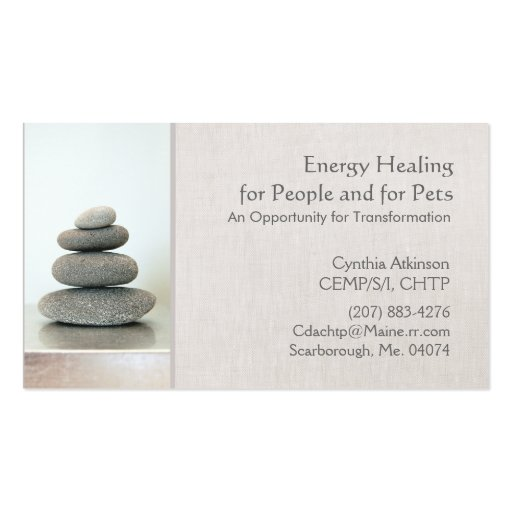 Stacked Zen Stones Holistic Health and Wellness Business Cards
