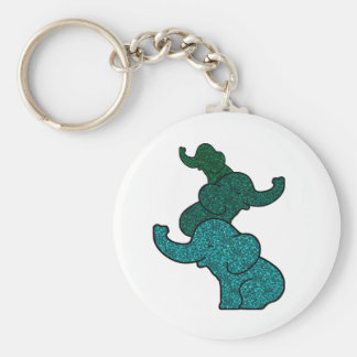 Stacking Glitter Elephants Key Ring