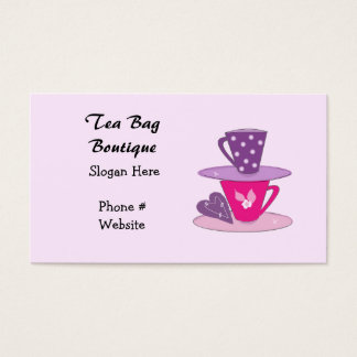Stacking Teacups  Business Card