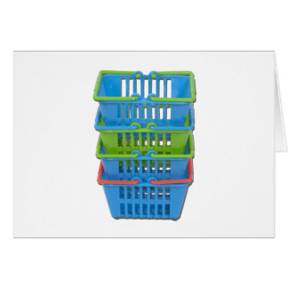 StackOfShoppingBaskets101311 Greeting Card