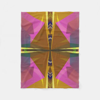 Stacks Abstract in Pink Fleece Blanket