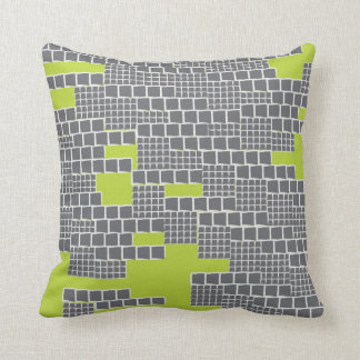 Stacks Lime Throw Pillow