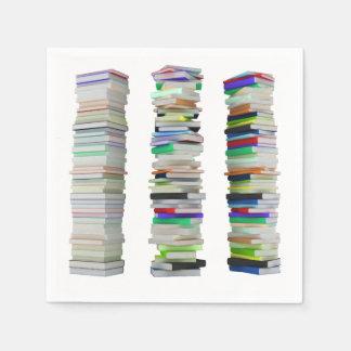 Stacks of Books Paper Napkins
