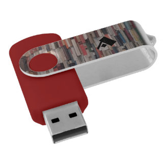 Stacks of Books with Custom Monogram USB Flash Drive