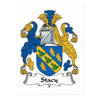 Stacy Family Crest Postcard