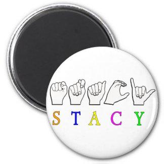 STACY FINGERSPELLED ASL NAME SIGN MAGNET