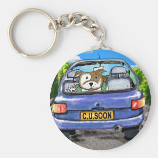 Staffie Key chain CUSoon