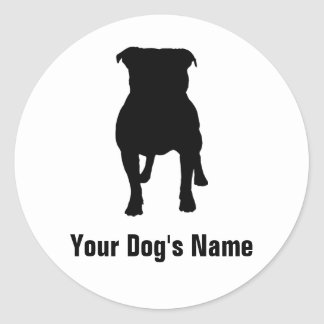 Staffordshire Bull Terrier スタッフォードシャー・ブル・テリア Round Sticker