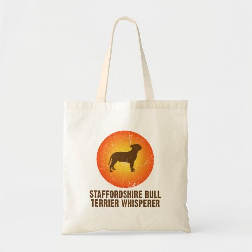 Staffordshire Bull Terrier Canvas Bags