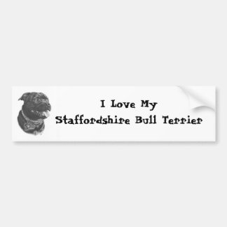 Staffordshire Bull Terrier Bumper Sticker