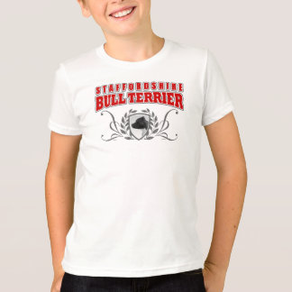 Staffordshire Bull Terrier COA red text T-Shirt