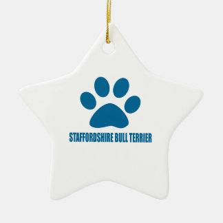 STAFFORDSHIRE BULL TERRIER DOG DESIGNS CERAMIC ORNAMENT