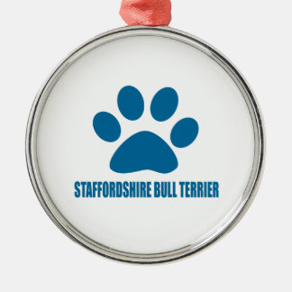 STAFFORDSHIRE BULL TERRIER DOG DESIGNS METAL ORNAMENT
