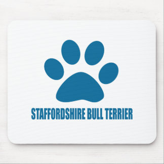 STAFFORDSHIRE BULL TERRIER DOG DESIGNS MOUSE PAD