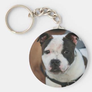 Staffordshire Bull Terrier keychain