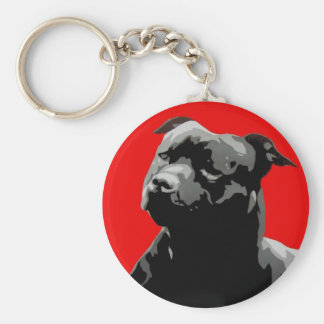 Staffordshire bull terrier keyring keychain