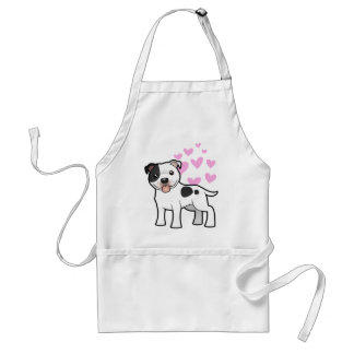 Staffordshire Bull Terrier Love Adult Apron