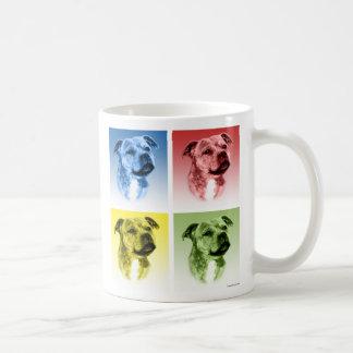 Staffordshire Bull Terrier Pop Art Coffee Mug