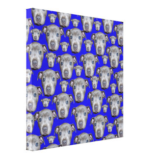 Staffordshire Bull Terrier Puppy Pattern, Canvas Print