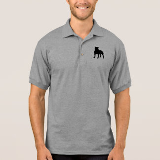 Staffordshire Bull Terrier Silhouette Polo