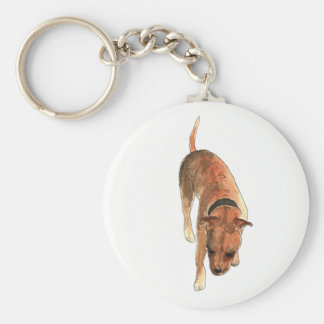 Staffordshire Bull Terrier Watercolour Dog Design Key Ring