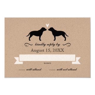 Staffordshire Bull Terriers Wedding Reply RSVP Card