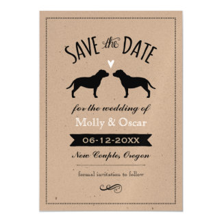 Staffordshire Bull Terriers Wedding Save the Date Magnetic Card