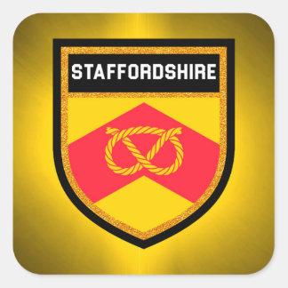 Staffordshire Flag Square Sticker