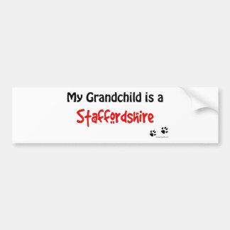 Staffordshire Grandchild Bumper Sticker
