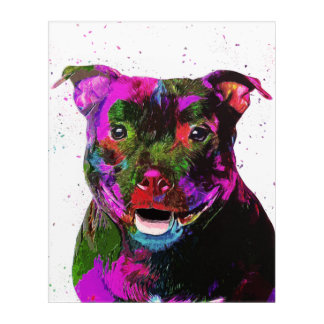 Staffordshire Terrier Colorful Pop Art