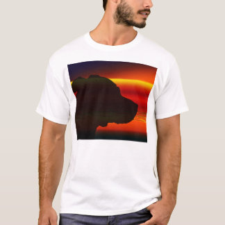 staffy orange sunset silhouette.png T-Shirt