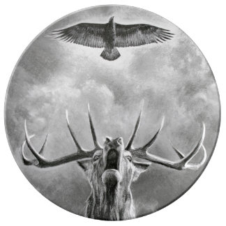 Stag and Eagle Plate