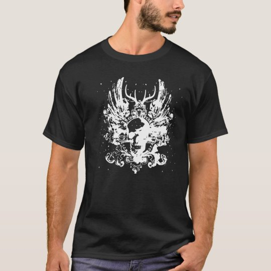 Stag and skull design T-Shirt