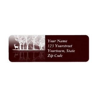 Stag At Dusk Return Address Label