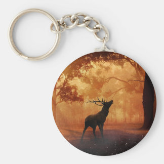 Stag at Sunset Key Ring