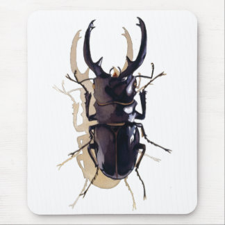 """Stag beetle"" Insect Watercolor Art Mouse Pad"