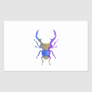 Stag Beetle Rectangular Sticker