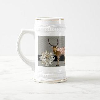 Stag Dad Silver & Gold Stein Mug