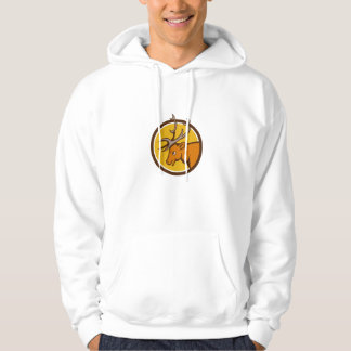 Stag Deer Buck Head Circle Cartoon Hoodie