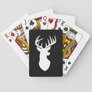 Stag Deer Head Silhouette Playing Cards