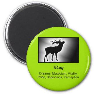 Stag Deer Totem Animal Spirit Meaning 6 Cm Round Magnet