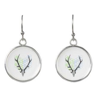 Stag Deer Trophy Antlers Earrings