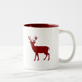 Stag Deer Two-Tone Coffee Mug